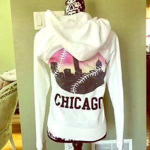 VS PINK Chicago fleece zip up sweatshirt